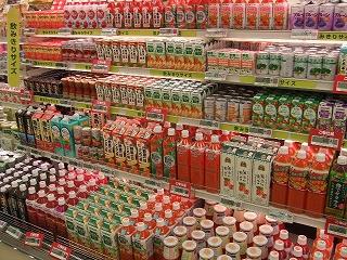 野菜ジュース コーナーは、大盛況 !!