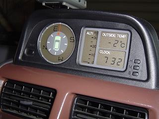 出勤前の気温は、車庫のなかで 「 -2℃ 」 でした。