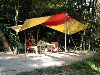 天気も良く、最高のキャンプです。