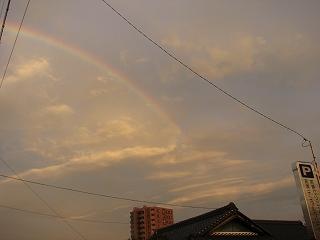 「 虹 」 久しぶりに見ました !!
