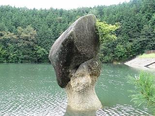 「 ポーター岩 」 岐阜県中津川市 星ヶ見公園 ( 正式名称は、傘岩 )