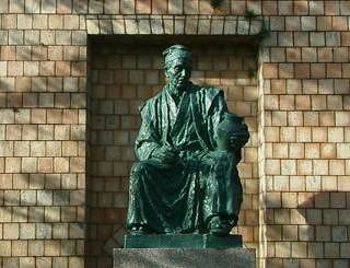 「 磁祖 加藤民吉 の銅像 」 瀬戸市 窯神神社