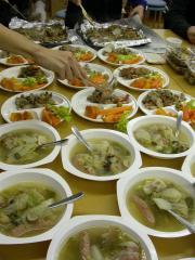 12月9日 並ぶスープ&パエリア