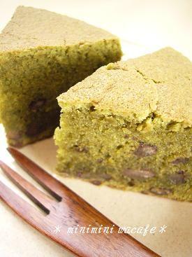 米粉の抹茶ケーキ