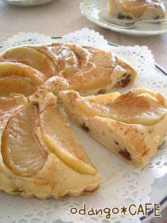 甘味料&オイルフリー♡煮りんごのタルトケーキ