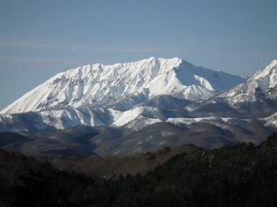 蒜山から見た大山