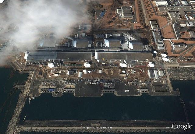 被災後 福島第一原子力発電所(建家爆発前)