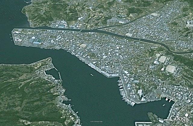 気仙沼、津波前(2002)
