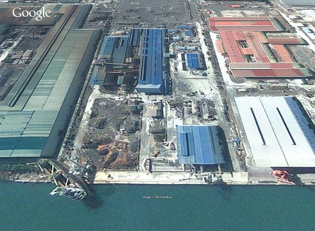 仙台港の船3月13日