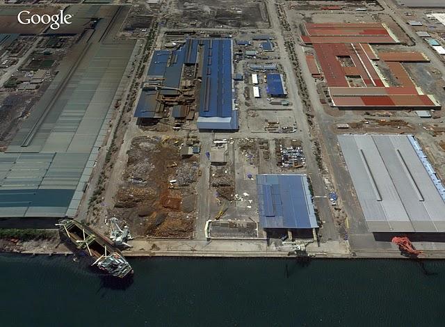 仙台港の船3月26日