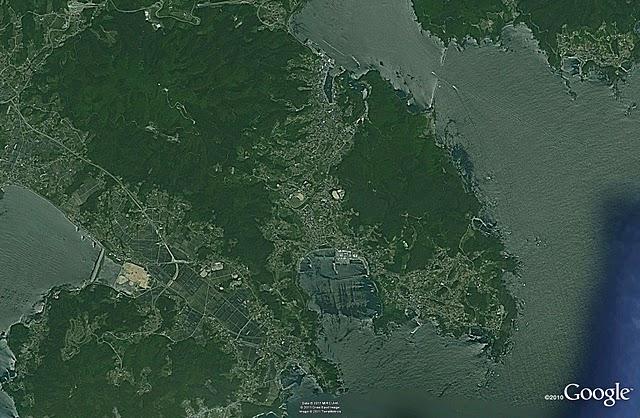 大船渡&陸前高田、津波前(2005)