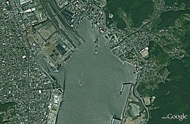大船渡、津波前(2005)