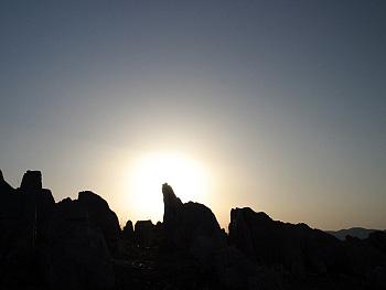 秋吉台の落陽Ⅰ