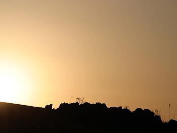 秋吉台の落陽Ⅱ