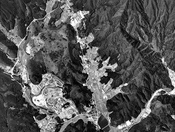 秋吉台北部:国土地理院撮影の空中写真(1996年撮影)
