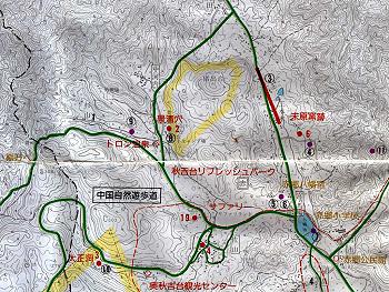 「三本木滑走路跡」地図