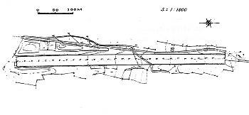 赤郷村三本木旧飛行場平面図