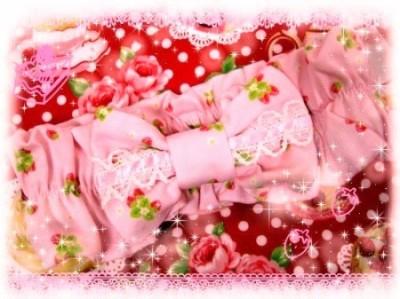苺柄おリボン♥