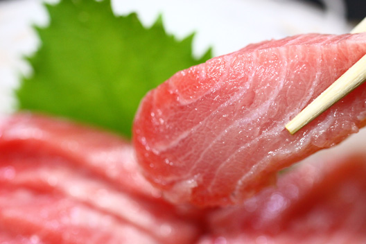 本マグロ 脳天部分・頬肉 刺身 新潟村上 食べる