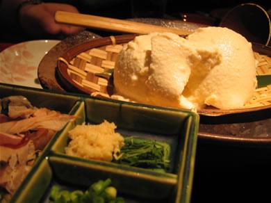 ざる豆腐美味!