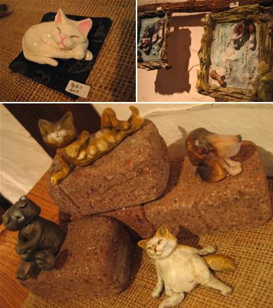 動物愛溢れる粘土作品