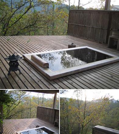 部屋付きの露天風呂