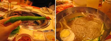 巨大唐辛子と冷麺