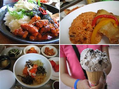 せっかくなので韓国料理を。