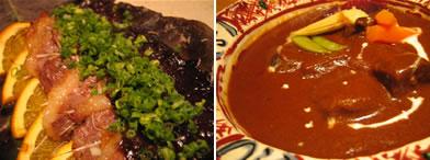 馬ひも朴葉焼きとほほ肉のシチュー
