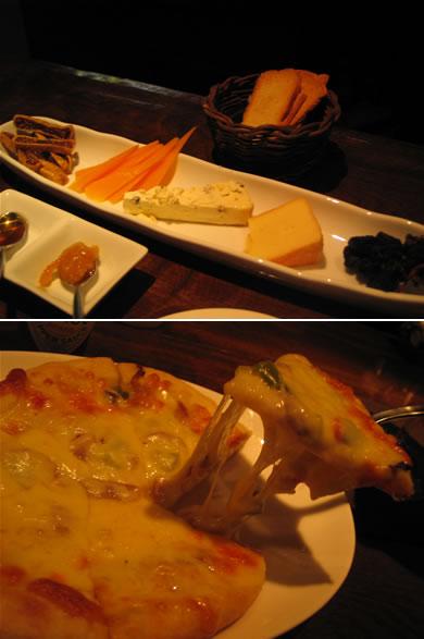 チーズ盛り合わせは魅惑のプレート