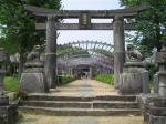 山田神社で藤のお花見です