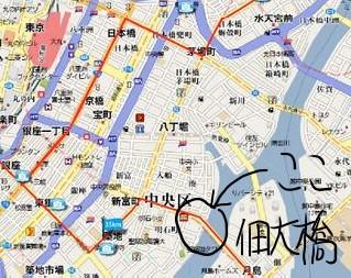 佃大橋の地図-1
