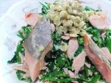 鮭とほうれん草の和え物(わさびマヨネーズ風味)