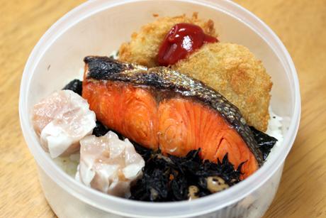 鮭海苔コロッケ弁当