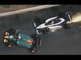 F1クラッシュ動画 1985年モナコGP