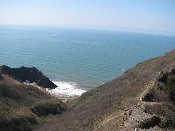 灯台コースから見る日本海