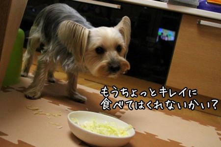 もうちょっとキレイに食べてくれない?