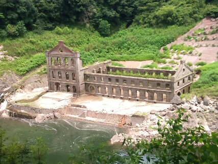 曽木発電所遺構跡地