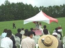 牧草畑ウェディング001
