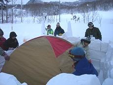 080112テント設置