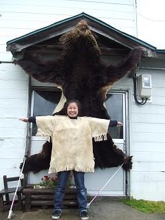 クマと記念撮影