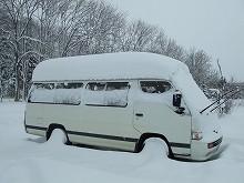 1020 雪まみれワゴン