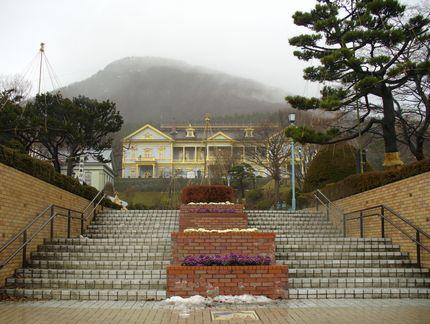 元町公園と旧函館区公会堂