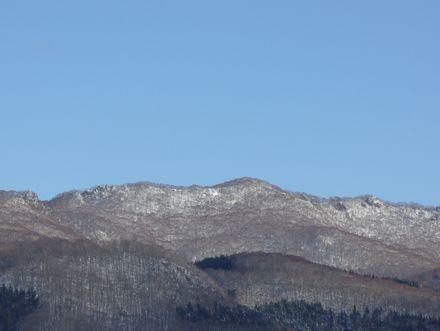 横津岳から続く山並み