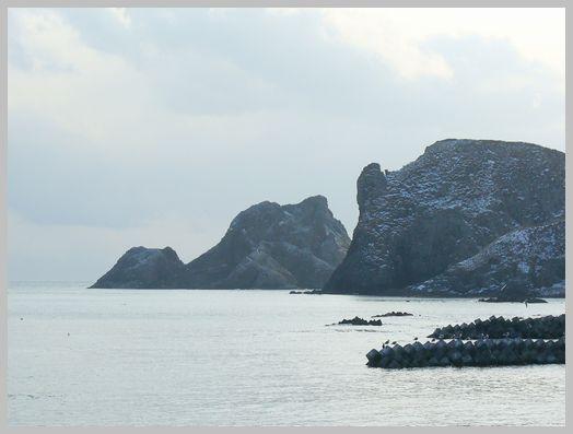 函館から恵山へ向かう海岸