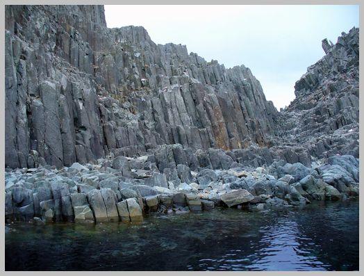日浦岬の柱状節理2