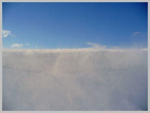 雪の吹き出し