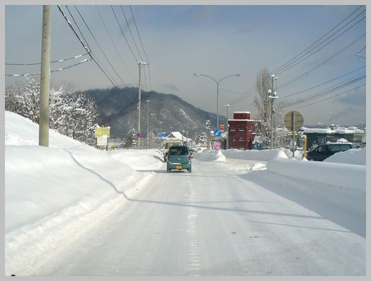 札幌市内の圧雪路