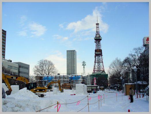 札幌テレビ塔と大通公園