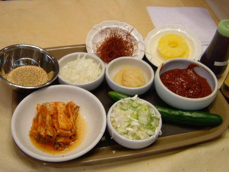 冷麺の材料